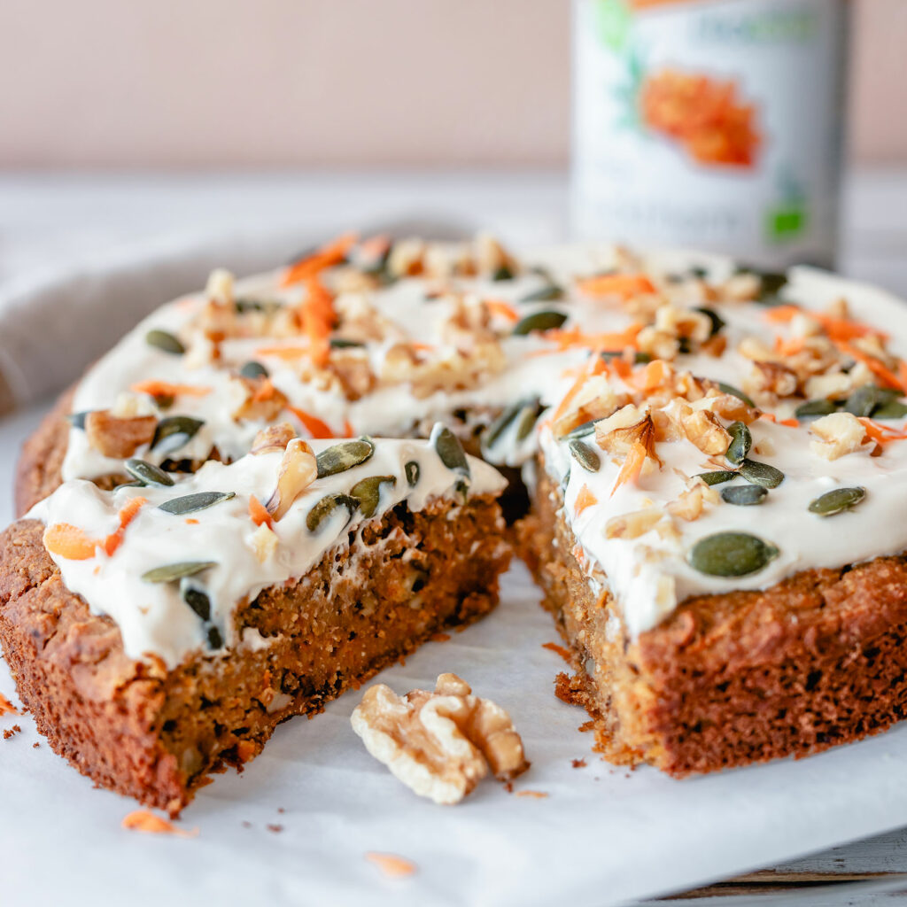 Vegan, gluten free, oil free carrot cake